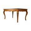 Hari Rectangular Wood Dining Table with Brass Inlay 4