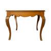 Hari Rectangular Wood Dining Table with Brass Inlay 3
