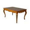Hari Rectangular Wood Dining Table with Brass Inlay 2