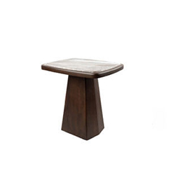 Hayman Brown Marble Topped Side Table