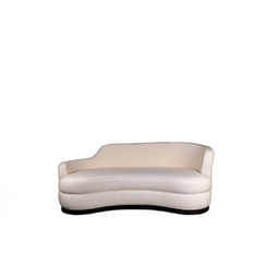 Noir Upholstered Curve Shape Sofa