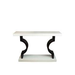 silviano Laquer Cream White Wood Console Table