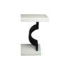 Silviano Lacquer Cream White Wood Console Table 3