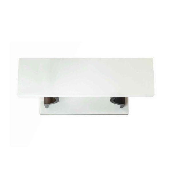 silviano Lacquer Cream White Wood Console Table Top