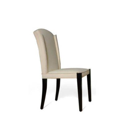 Angel Upholstered High Back Dining Chair Beside View