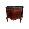 Elizabeth Antique Wooden Chest Marble Top with Veneer Inlay 1