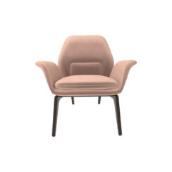 Hermes Upholstered Rolling Arm Chair