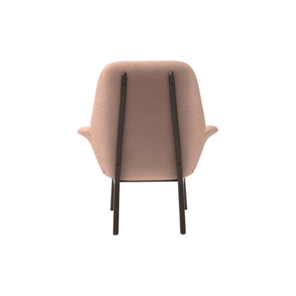 Hermes Upholstered Rolling Arm Chair Back