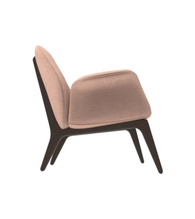 Hermes Upholstered Rolling Arm Chair Right