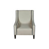 Jesse Upholstered Slope Arm Chair with Black Legs 1