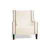 Jesse Upholstered Slope Arm Chair with Black Legs 5