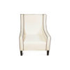 Jesse Upholstered Slope Arm Chair with Black Legs 2