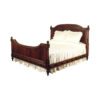Wooden Rococo Ornate Bed Hand Carved Wood 1