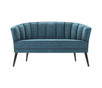Zoue Upholstered Striped Round Back Sofa