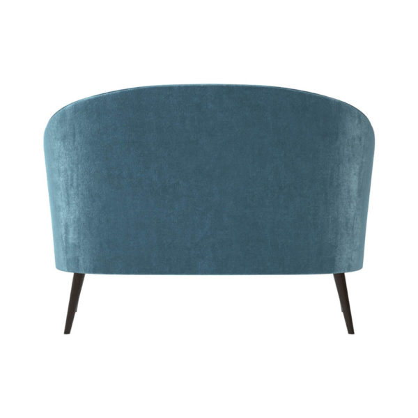 Zoue Upholstered Striped Round Back Sofa Back