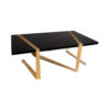 Anais Rectangular Marble and Brass Coffee Table 4