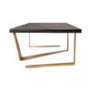 Anais Rectangular Marble and Brass Coffee Table 2