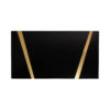 Anais Rectangular Marble and Brass Coffee Table 5