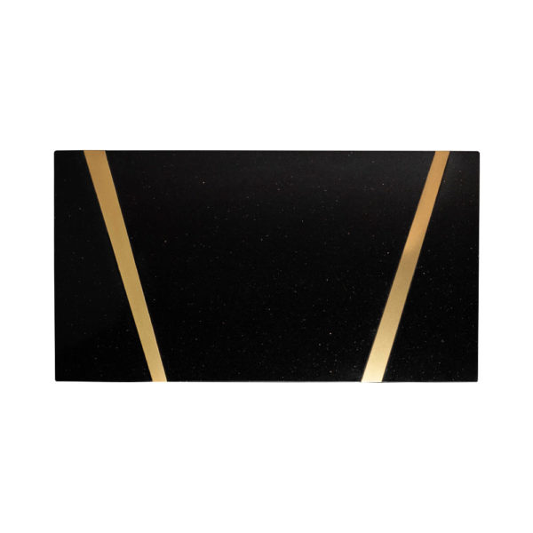 Anais Rectangular Marble and Brass Coffee Table Top View