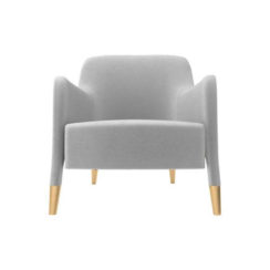 Annely Upholstered Armchair Gray