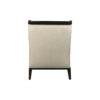 Chord Beige Linen Armchair with Wooden Frame and Cushion 6
