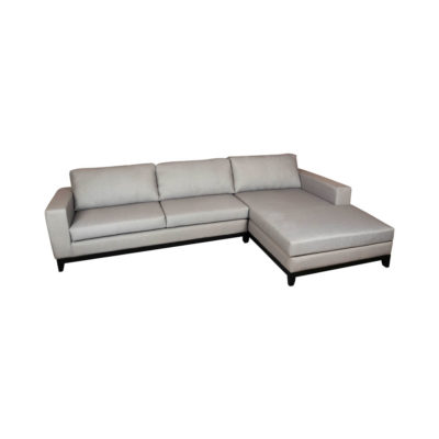 Cord Grey Linen Corner Sofa UK