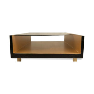 Gail Smoked Glass Top Coffee Table with Storage