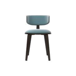Oska Upholstered Winged Dining Chair
