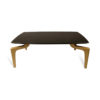 Roxy Rectangular Marble Coffee Table with Curved Legs 1