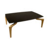 Roxy Rectangular Marble Coffee Table with Curved Legs 2
