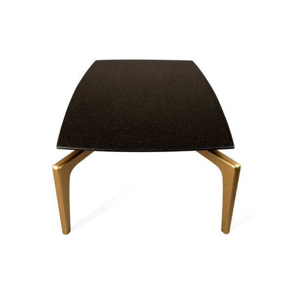Roxy Rectangular Marble Coffee Table with Curved Legs