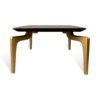 Roxy Rectangular Marble Coffee Table with Curved Legs 3