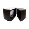 Trujillo Modern Black Coffee Table with Marble Top 2